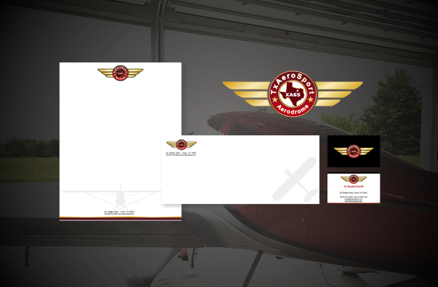 Texas airpark community logo design