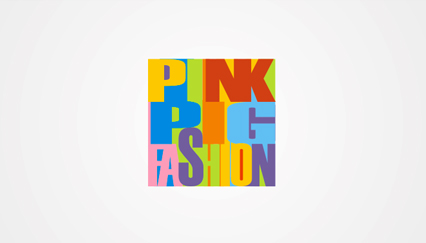 Fashion store logo design, Colorful text logo
