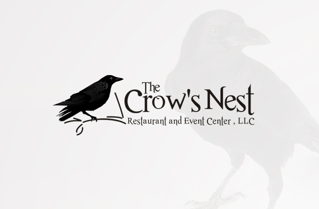 Family restaurant logo design, Crow logo