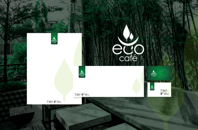 Garden cafe logo design, Coffee shop logo