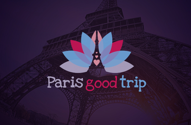 Paris lifestyle logo, Eiffel tower logo