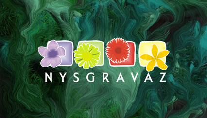 Backyard landscape logo, Flowers logo