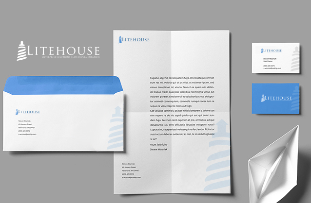 IT Solutions logo design, Lighthouse logo