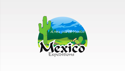 Mexico travel guide logo, Cactus logo