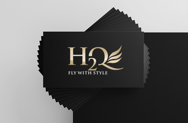 Private jet logo design, Luxury logo