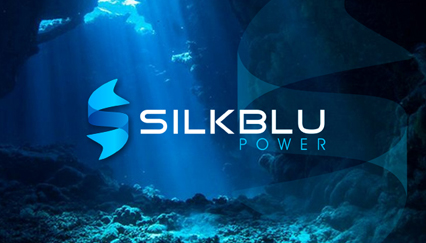 Water Power logo design, Silk ribbon logo