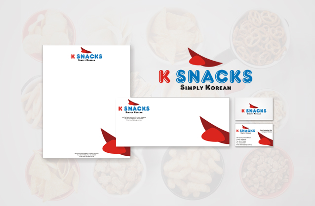 Korean snacks logo design, Mouth logo